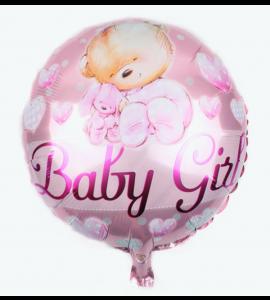 Balão Redondo Ursinho Bebé Rosa