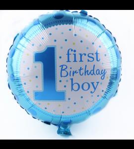 Balão Redondo 1 Ano Menino