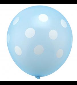 Balão Azul Claro Pintas