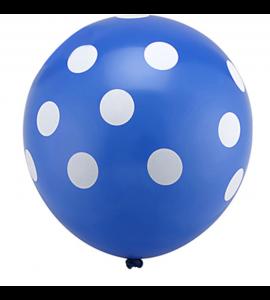 Balão Azul Escuro Pintas