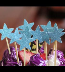 10 Palitos Estrelas Azuis