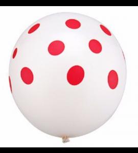 Balão Pintas Vermelhas