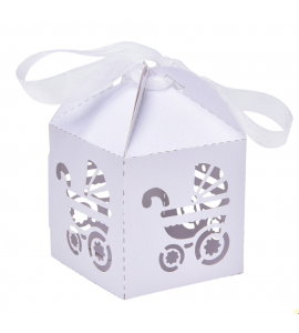 Caixa Carrinho Branca
