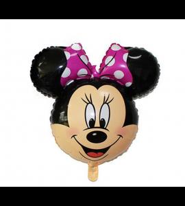 Balão Cara da Minnie (Laço Rosa)