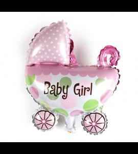 Balão Carrinho de Bebé Menina