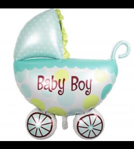 Balão Carrinho de Bebé Menino