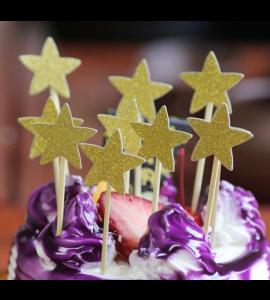 10 Palitos Estrelas Douradas