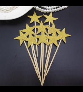 30 Palitos Estrelas Douradas