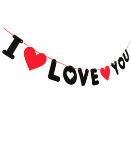 Faixa I Love You em Feltro
