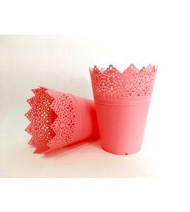 Conjunto 2 Vasos Decorativos Rosa