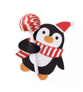 5unid. Cartões para Chupa-chupa Pinguin