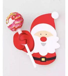 5unid. Cartões para Chupa-chupa Pai Natal