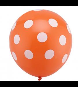 Balão Laranja Pintas