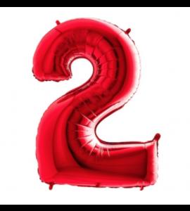 Balão número 2 Vermelho
