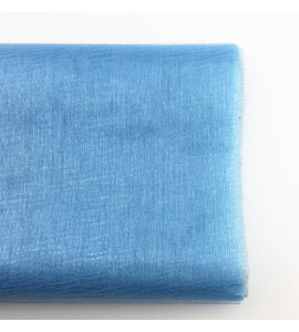 Organza Tule Azul 4,5m x 48 cm