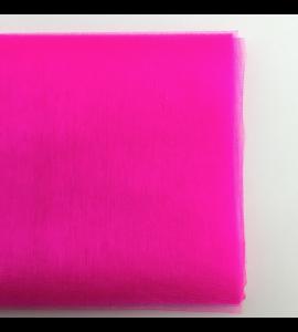 Organza Tule Rosa Vivo 4,5m x 48 cm