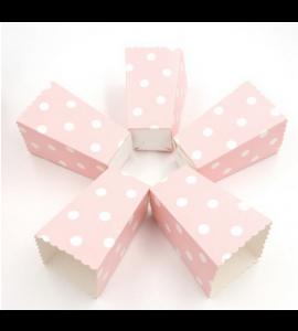 6 Caixas Pipocas Rosa Bolas
