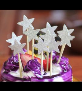 10 Palitos Estrelas Prateadas