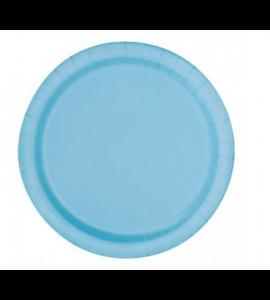 Conj. 6 unid. Prato 23cm Azul