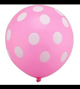 Balão Rosa Pintas
