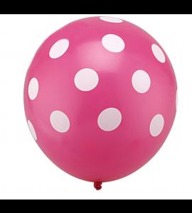 Balão Rosa Paixão Pintas