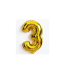 Balão número 3 - Dourado