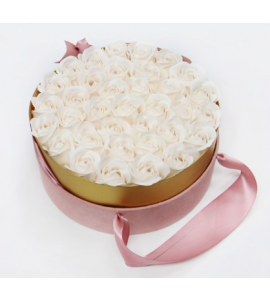 Caixa de Rosas 20x9-branco