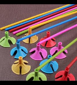 12 Varas Coloridas Para Balões