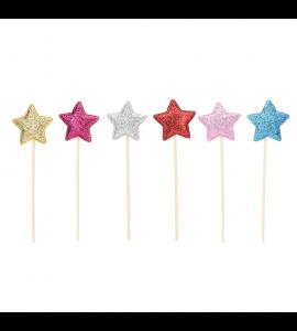 6 Sticks Estrela Colorido 3D