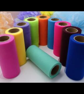Rolo de Tule Colorido de 15cm