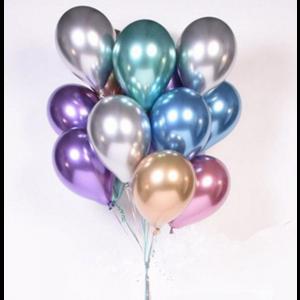 Balão Latex Cor Metálica
