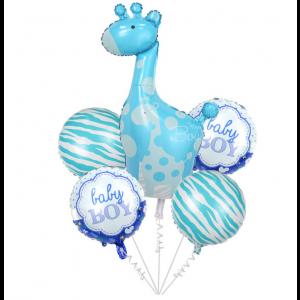 Pack Balões Girafa Azul