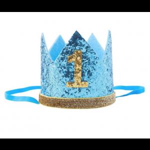 Coroa 1º Aniversário Azul