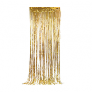 Cortina Fitas Douradas 2m x 1m