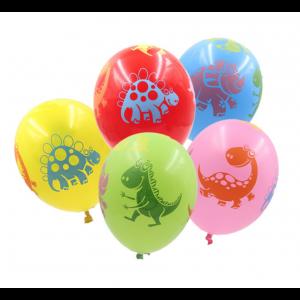 10 Balões Coloridos Dinossauros