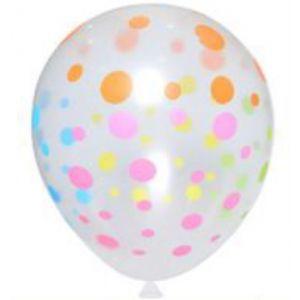 Balão Látex Transparente Pintas