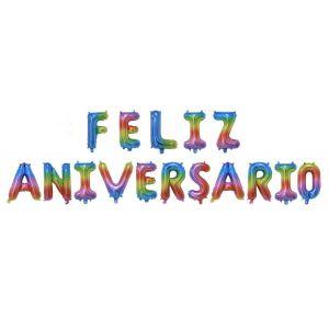"Balões Letras ""Feliz Aniversário"""