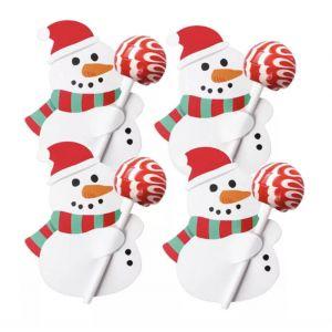5unid. Cartões para Chupa-chupa Boneco de Neve