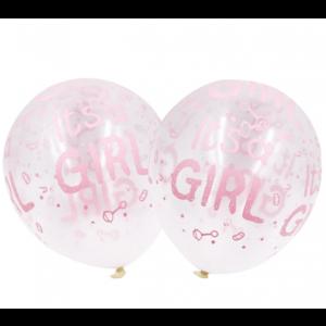 5 Balões Its a Girl