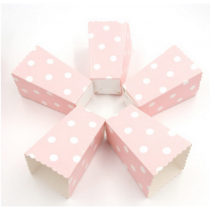 12 Caixas Pipocas Rosa Bolas