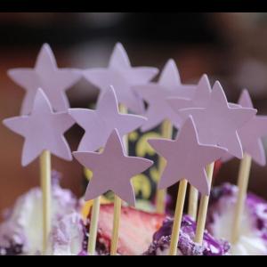 10 Palitos Estrelas Lilás