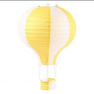 Balão Ar Quente de Papel Amarelo