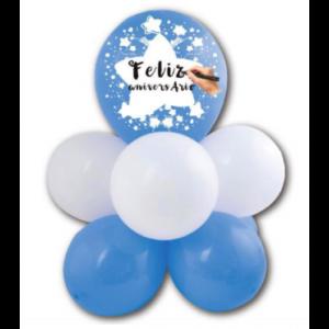 Arranjo de Balões Personalizável - Azul