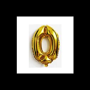 Balão número 0 - Dourado