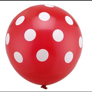 Balão Vermelho Pintas